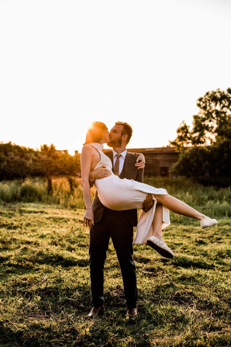Trouwfotograaf West-Vlaanderen golden hour huwelijk